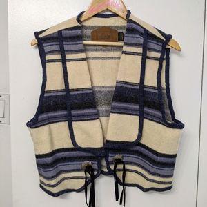 Vintage Woolrich western wool vest size large